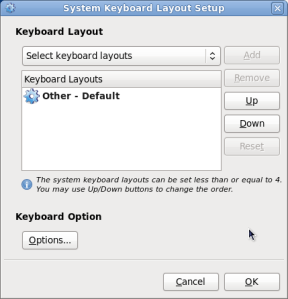 System Keyboard Layout Setup